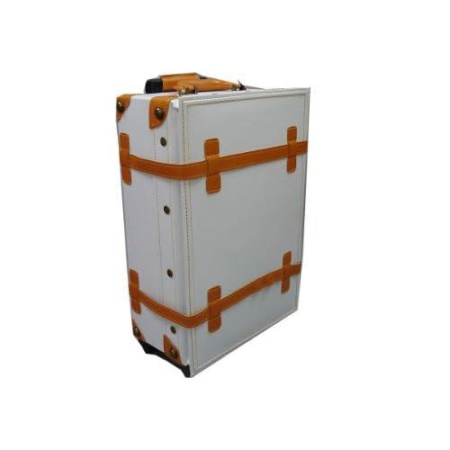 ハナイズム トランクキャリーバッグ - HANA ism -S04 クールホワイト×キャメル/キャリーケース・スーツケース