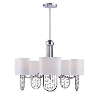 Golden Lighting 7071-5 CH Celesse Five Light Chandelier, Chrome Finish