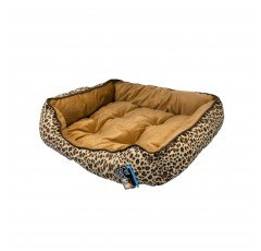 Pet Bed 20″ Square Leopard Print Dog Cat Mat Cushion Kennel Pad Crate House Cage Puppy Kitten Warm Nest