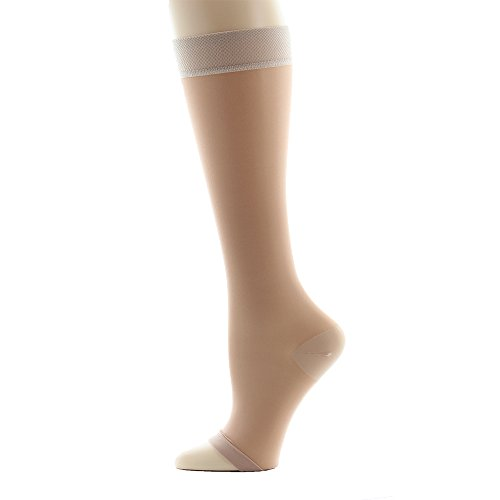 Ames-Walker-Womens-AW-Style-41-Sheer-Support-Open-Toe-Compression-Knee-High-Stockings-15-20-mmHg-NylonSpandex-41-P