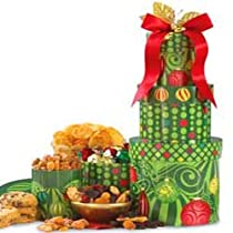 Holiday Cheer Gourmet Food Tower - Christmas Gift Basket