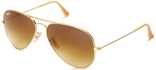 aviator ray ban gold  ray ban aviator sunglasses brown gradient lens