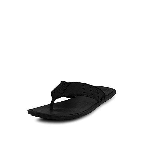 Get Glamr Get Glamr Men's Black Leather Madl Flats