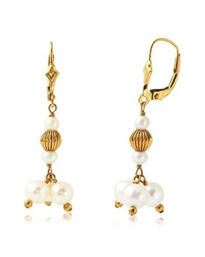 Fashion Strada Ladies 14K Earrings With Freshwater Pearl