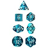 Polyhedral 7-Die Translucent Chessex Dice Set - Teal