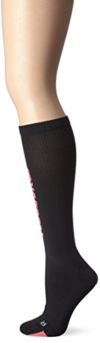 Reebok Women's Delta Front Logo Running Sock, Black, One Siz