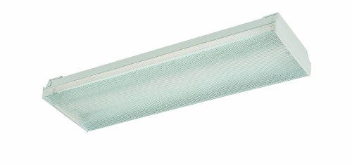 Thomas Lighting Fwn217-Eb Two-Light Surface Mount Fluorescent Light, White, 7-1/2-Inch W By 2-1/2-Inch H By 24-Inch L
