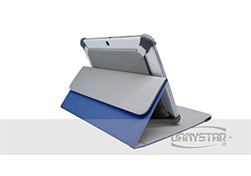 Custodia Universale 10'' per Tablets come ARCHOS Arnova 9 G2 , MEDIACOM Smart Pad 1010i , HAMLET Zelig Pad 970H , HAMLET Zelig Pad 970H2 , HAMLET Zelig Pad 210 / 210G, HAMLET Zelig Pad 970H 3G , HAMLET Zelig Pad 410 / 410S , TREKSTOR SurfTab Ventos 10.1 , Mediacom Smart Pad 102 S2 , Archos 101 Titanium , ASUS MeMo Pad Smart ME301T-1A072A , ASUS MeMo Pad Smart ME301T-1B043A , ARCHOS 97 Xenon , ASUS Vivo Tab RT TF600T , Microsoft Surface , etc. (Blu) - Premium Case Danystar for Tablets