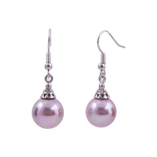 Lavender Mother of Pearl Earrings