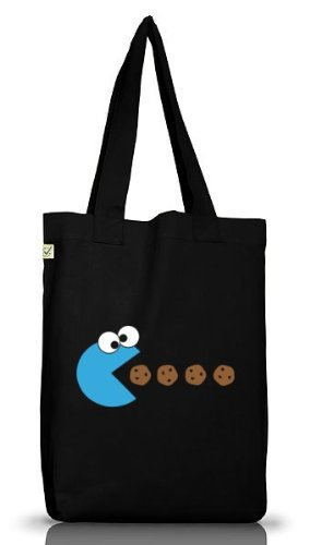 Shirtstreet24, BLUE MONSTER, Jutebeutel Stoff Tasche Earth Positive, Größe: onesize,Black