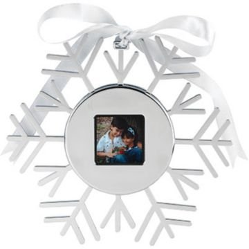 Omnitech Digital Photo Snow Flake Ornament (Snowflake Picture Frame compare prices)