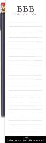 BBB (Blah, Blah, Blah) Magnetic Refrigerator Notepad