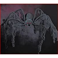 Halloween decoration - GIANT Creepy Cloth SPIDER - extends 4 feet! from WD
