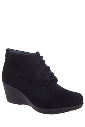 Renee Low Wedge Lace-Up Boot