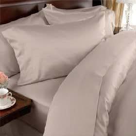 Egyptian Bedding 1000 Thread Count Egyptian Cotton 1000TC Pillow Case Set, California King, Beige Solid 1000 TC