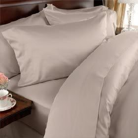 Egyptian Bedding 1500 Thread Count Egyptian Cotton 1500TC Sheet Set, King, Beige Solid 1500 TC