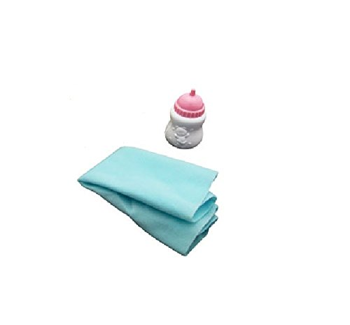 Little Mommy Real Loving Baby Walk & Giggle Doll Replacement Bottle and Blanket