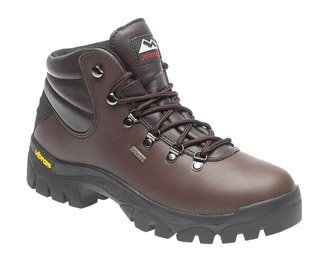 Mens / Boys Johnscliffe HIGHLANDER Waterproof Hiking Boot BROWN full grain one piece leather