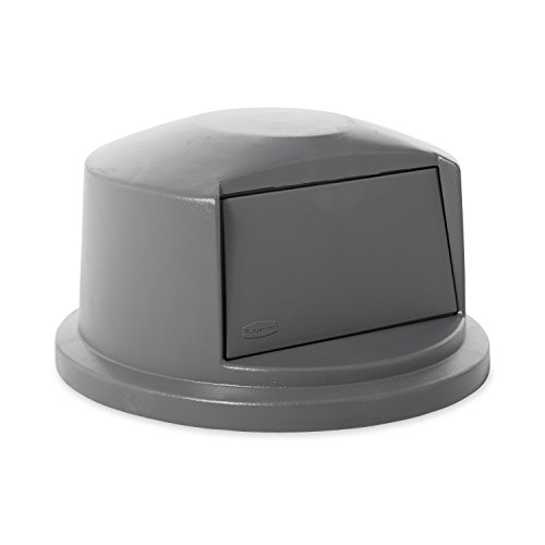 Rubbermaid Commercial FG263788GRAY Brute Round HDPE Dome Top, Gray (Commercial Garbage Container compare prices)