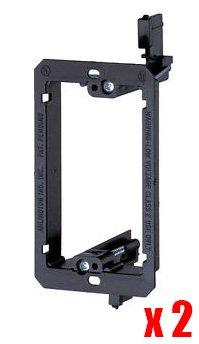 Imbaprice® Single Gang (1-Gang) Low Voltage Mounting Bracket - Black (Pack Of 2)
