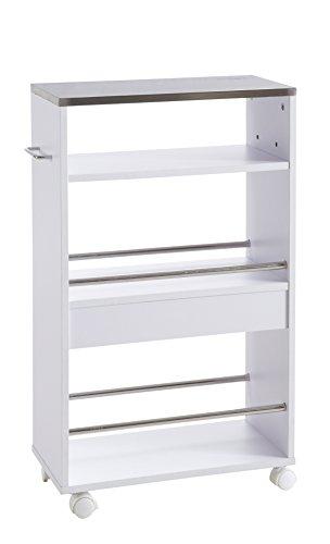 hot-stock-Carro-auxiliar-de-cocina-con-ruedas-madera-y-metal-color-blanco