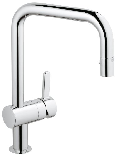 Grohe Flair C-Spout Sink Mixer with Pull-Out Spray