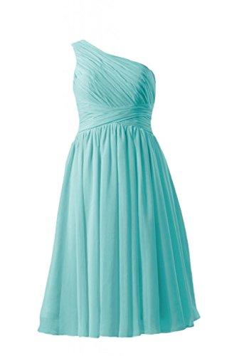 Daisyformals Short One-Shoulder Formal Dress Maternity Chiffon Dress(Bm351Em)- Tiffany Blue