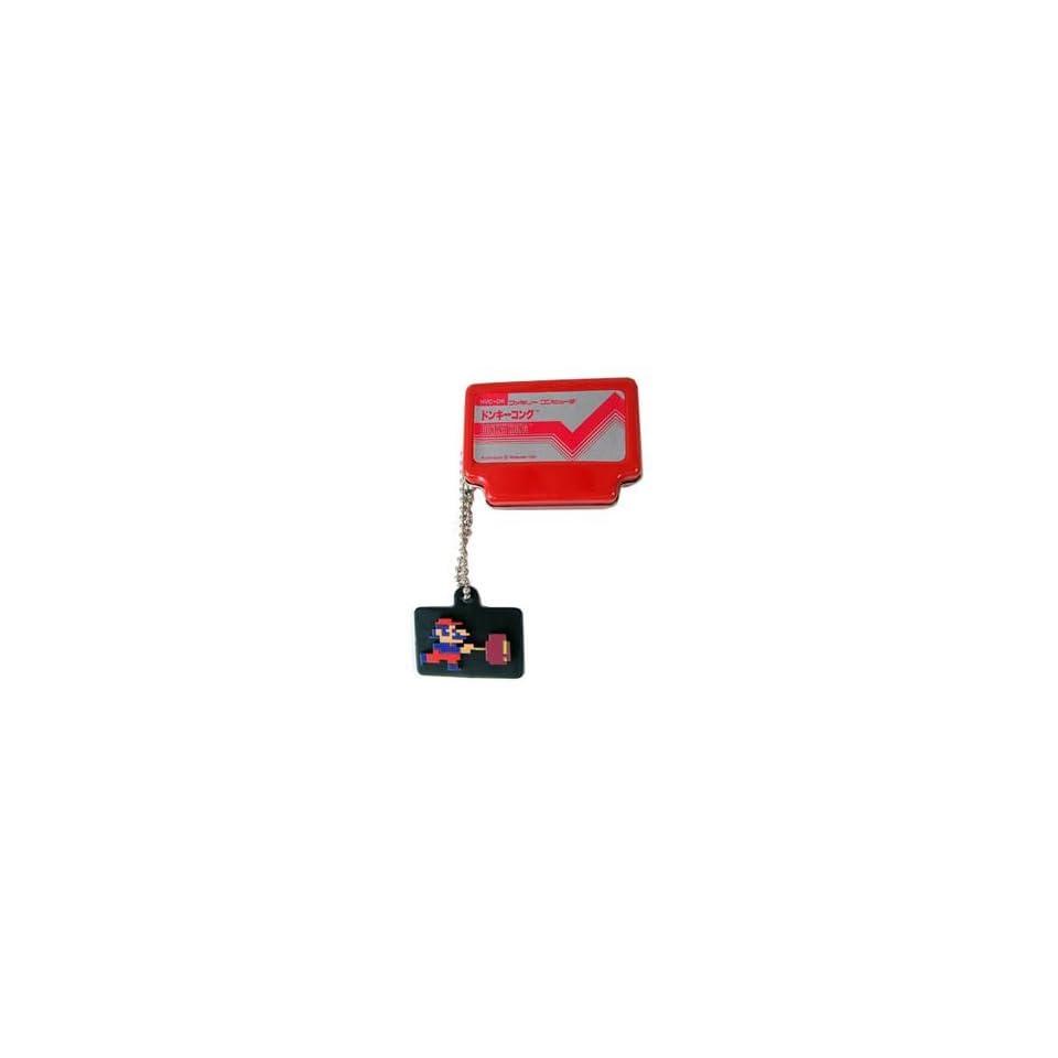 Nintendo Super Mario Bros. Red Famicom Tin Keychain