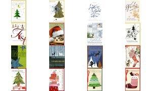 HORN Weihnachtskarte - Kind mit Schlitten - Inkl. Umschlag