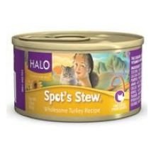 Halo Spot's Stew Wholesome Turkey Recipe Canned Cat Food