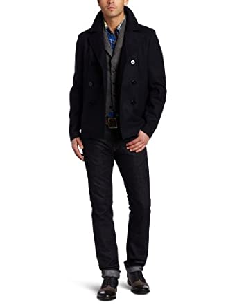 Scotch & Soda Men's Short Fitted Caban Jacket, Night, Small