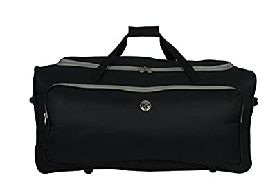 Black Large 94 Litre Ski & Snowboard Wheelie Hold All Luggage Trolley Duffle Bag