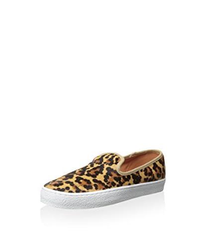 sixth & love Women's Denise Double Gore Slip On Sneaker  [Leopard]