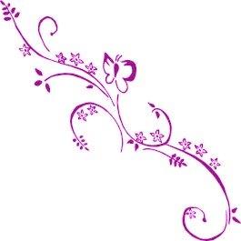 violett lila 2er set autoaufkleber blumenranke design annika 55 cm blumenaufkleber blumen. Black Bedroom Furniture Sets. Home Design Ideas