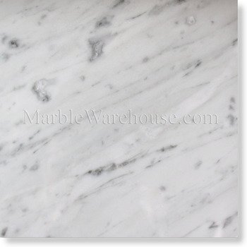 Carrara White 12 X 12 Marble Polished Tile