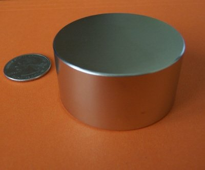 """Applied Magnets"" - 2"" X 1"" Super Strong Rare Earth Neodymium Disc Magnet"