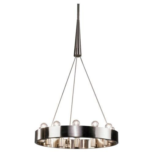Robert Abbey B2090 Chandeliers With Shades, Brushed Nickel Finish front-144660