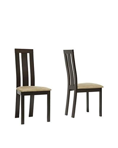 Baxton Studio Set of 2 Verona Dining Chairs, Tan