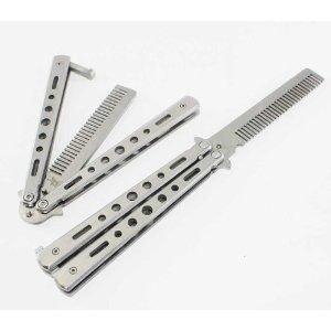 バタフライ ナイフ 型 コーム クール な クシ 特製 収納 ケース 付