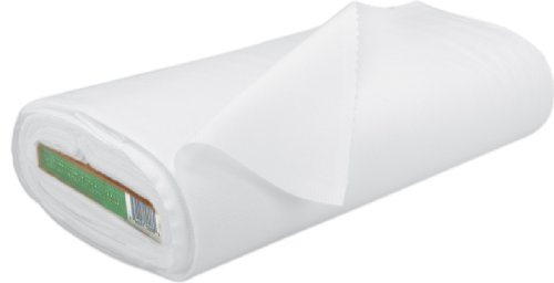 Roc-Lon 100% Cotton Bleached Muslin 108 Inch W, 15 Yds-White