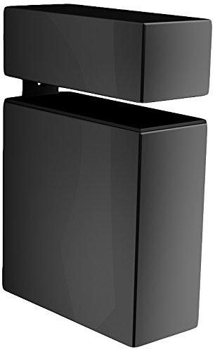 Bolis Italia AA2U007AL2B2 - Set di 2 mensole linea Kube, in plastica, 9,5 x 7 x 3 cm, colore: nero