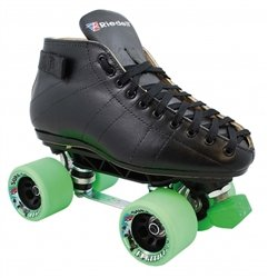 Skate Out Loud-Riedell 595 Sunlite Fugitive Speed Skates-Wheel Color:Red/Orange|Toe Stop Color:Black|Cushions:Lime Varies by Plate Color And Size кенгуру picture organic basement skate black