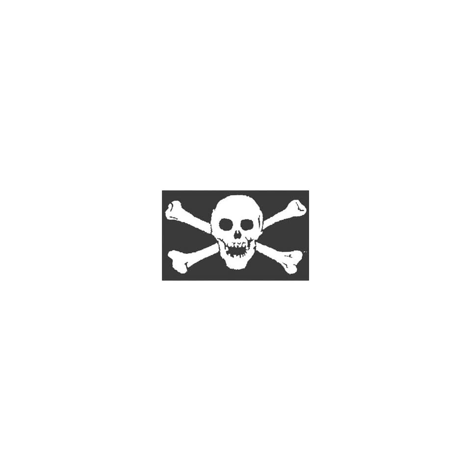 Pirate Skull (Jolly Roger without patch) 3 ft. x 5 ft. polyester flag