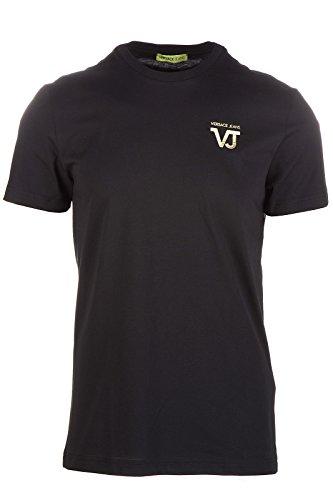 Versace Jeans t-shirt maglia maniche corte girocollo uomo pluto regular nero EU M (UK 38) B3GOB720 PRINT35