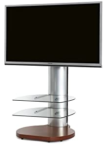 Cheap  Origin II TV Stand for TVs 43″-60″ Finish: Cherry base /  sides / Clear glass
