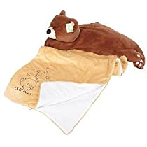 Snuggle Buds 3-in-1 Sleeping Bag Pillow & Plush Animal: Bear