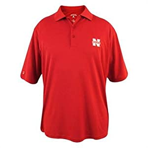 Nebraska Cornhuskers Exceed Red Polo from Antigua by Antigua