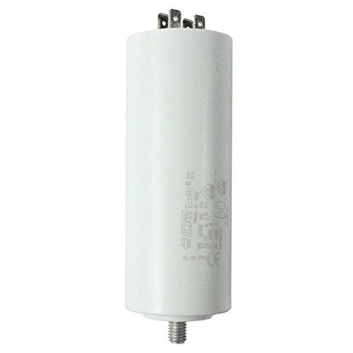 spares2go Start Run Motor Kondensatoren für Bosch Geräte 331.13215uF MF bis 80uF Spaten Connector/Tags 60UF