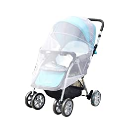 2 Pack White Baby Cart Mosquito,Used for baby Strollers, Carriers, Car Seats, Cradles, Pack\'n\'Plays, Cribs
