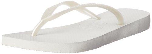 Havaianas Women's Slim Sandal Flip Flop, White, 37 BR/7/8 W US